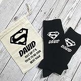 Best Man Superheld Persönlicher Socken und Baumwolle Geschenk Tasche Hochzeit Morning Geschenk