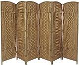 6 Panel Entwine Handmade Natural Room Divider / Splitter Screen