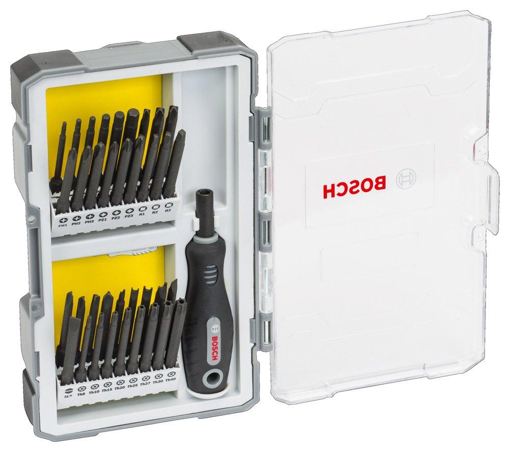 61v%2BbC6DO4L - Bosch Professional 2608589294 Set de 37 Unidades para atornillar con empuñadura