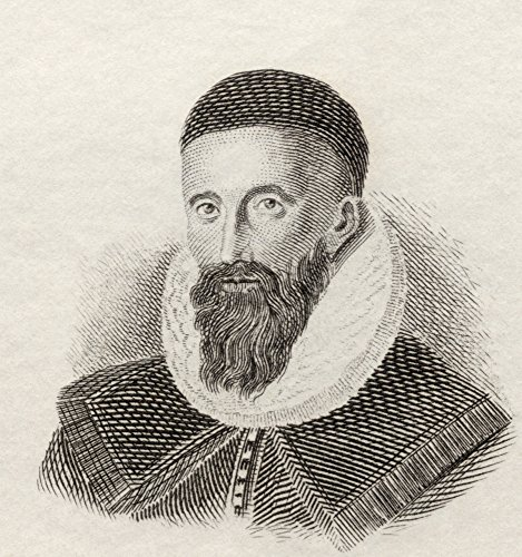 Ken Welsh / Design Pics - John Napier Of Merchiston 8Th Laird Of Merchistoun 1550 To 1617. Scottish Mathematician Physicist Astronomer And Astrologer. From Crabb's Historical Dictionary Published 1825. Photo Print (35,56 x 38,10 cm) -