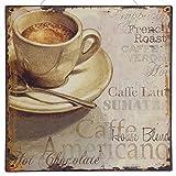 Kaffee Blechschild Tasse Kaffee Schriften Textur Kaffeesorten Frühstück Café