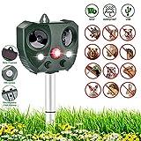 Sararoom Repellente per Gatti Animali ad Ultrasuoni Impermeabile Energia Solare Repellente Doppio-Testa Esterni per Allontanare Gatti Cani Uccello Ratti Volpi Scoiattoli