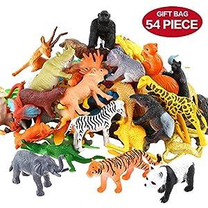 animal: Conjunto de Juguetes Animales de Mini Selva de 54 Piezas,Favoritos de Fiesta de ...
