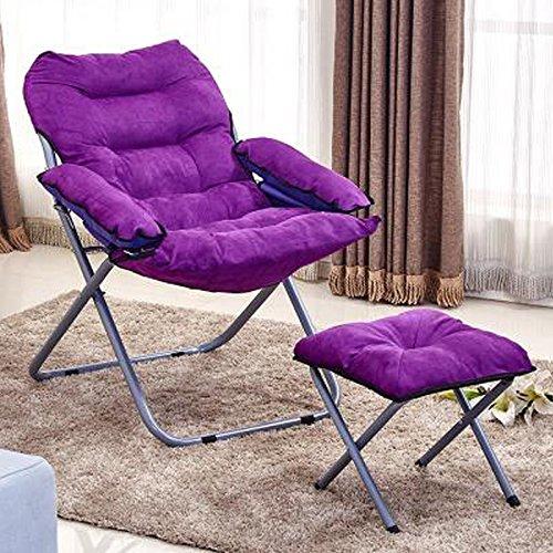 MXXYZ Klappsessel klappstühle Klappstuhl Liege weichen Sofa kreative einfache Freizeit Stuhl abnehmbar und waschbar +1 die gleiche Hocker (Color : C)