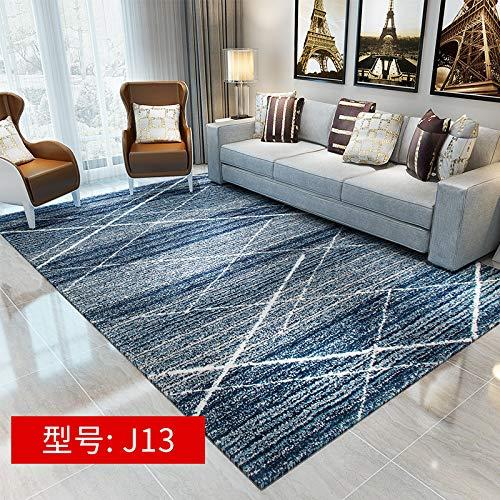Leichtes, luxuriöses, schlichtes, bedrucktes amerikanisches Flauschvlies 160CM * 230CM J13,Moderner Wohnzimmer Retro Baumwoll-Teppich mit Quaste Eingang Dünne Bodenmatte Handgewebt Teppichläufer ruts