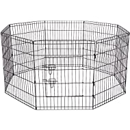 OxGord 8-Panel Folding Wire Fence Exercise Pen with Door for Pets, 64 by 64 by 30""