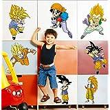Anime Dragon Ball Son Goku Goten–Adhesivo de pared decorativo para decoración, 124X23cm