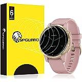 SPGUARD Protection Compatible avec Protection Garmin vivoactive 4S, [6 Pièces] LiQuidSkin Films de Protecteur d'écran Anti-Bu