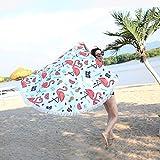 Yansion - Toalla de playa redonda con flamencos a prueba de arena, manta de playa
