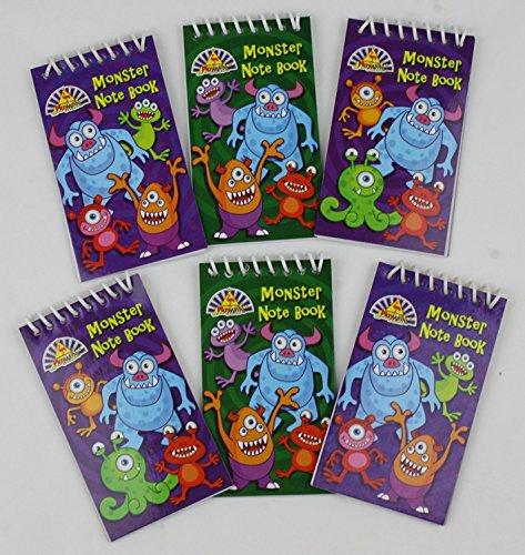 Monster Mini Spiral Notizbücher - Kinder Partei-beute-beutel-füller - Multi, 12er - Packung