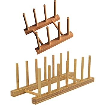 Segolike 2 Pieces Kitchen Bamboo Holder Dish Storage Tray Rack Drainer Plate Stand  sc 1 st  Amazon.in & Buy Segolike 2 Pieces Kitchen Bamboo Holder Dish Storage Tray Rack ...
