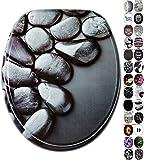 WC Sitz, viele schöne schwarze WC Sitze zur Auswahl, hochwertige und stabile Qualität aus Holz (Hot Stones)