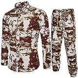 Saingance Männer Overall Jogginganzug Trainingsanzug Sportanzug Fitnessanzug Sweatjacke Hoodies Sporthose Jumpsuit