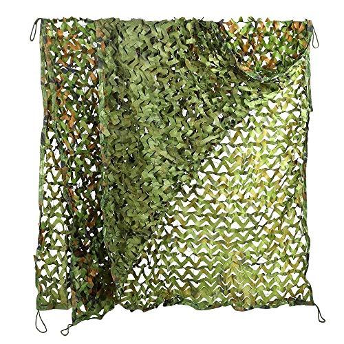 DLLzq Tarnnetz Sonnenschutznetz Woodland Camping Militärnetz Jagd Schießen Camping Zelt Tarnung-Abdeckung,A-4M×6M - Armee Grün Abgeschnitten