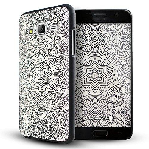 Samsung Galaxy J5 Funda,Lizimandu 3D Patrón Protectiva Carcasa de Silicona Gel TPU estrecha Case Cover Para galaxy j5(Flor Blanca/White Flower)