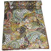 tribal asiatischen textilien queen kantha quilt in schwarz paisley kantha decke bettwsche tagesdecke berwurf - Bettwasche Paisley Muster