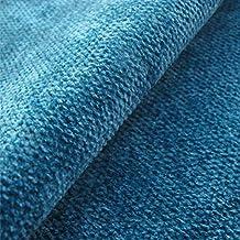 Tamarisk 'Aqua': terciopelo azul tapicería de sofá cojín tela retardante de llama Material de telas Loome, Tamarisk 'Aqua Plain' : Blue, 10 x 14 cm sample