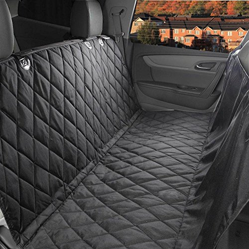 Dog Seat Cover,EVELTEK Luxury X-Large 152x147cm /60″x58″ Backseat Nonslip Scratch-proof Waterproof& Abrasion Resistance Pet Dog Car Seat Cover & Hammock |Universal Fit in SUVs,Cars & Vehicles-Black