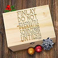 TWISTED ENVY Do Not Peek Christmas Personalised Wooden Christmas Eve Box