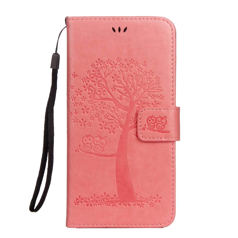 77a2355a315 DENDICO Cover iPhone 7 Plus/iPhone 8 Plus, Ultra Sottile Pelle Flip  Portafoglio Magnetica Flip Custodia con Funzione Supporto per Apple iPhone  7 Plus/iPhone ...