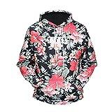 [Jandz] Unisex Hoodie Muster, 3D Drucken, Kunst, Splash, bunt, Blume, Diamond Design (Large, Flower)