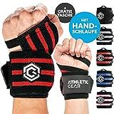 Athletic Gear Innovation Handgelenk Bandagen mit Handschlaufe - 2er Set (60 cm) Handbandagen für Krafttraining, Fitness und Sport I Unisex Wrist Wrap Orthese Bandage Handgelenkstütze Stützbandage