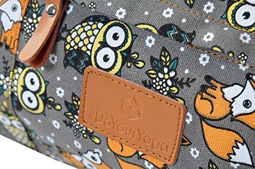 #DoYourYoga Yogatasche Damayanti Fuchs Eule Logo