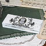 Vintage Holz Federkästchen Federmäppchen Federmappe Griffelkasten Stiftekasten