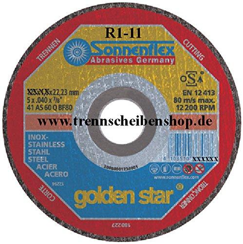 10x Trennscheibe, RRR-5_Ø 125 x 0,8 mm, Inox Edelstahl Eisen und sulfatfrei, Profi Scheibe, Super Premium.