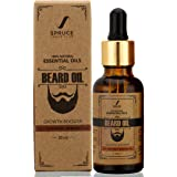 Spruce Shave Club Beard Oil For Beard Growth (30ml) - Cedarwood & Mandarin - 9 Natural Oils For Beard Growth
