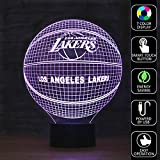 Olanstar Optical Illusion NBA Los Angeles Lakers Basketball Logo Decoration Toy Lamp