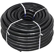 Yahee 50M 38mm 1/2' Poolschlauch Solarschlauch Schlauch für Pool Schwimmbad mit 140g/m, Muffenabstand 1M, schwarz