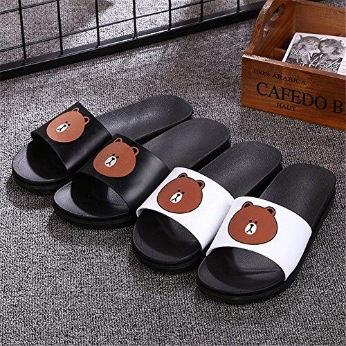 Auspicious beginning Sandali stampati carino stampati pantofole casual per gli uomini e le donne orso nero