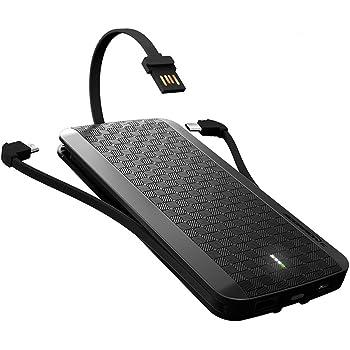 iWALK 8000mAh con Cavi di USB Tipo-C e Micro USB Batteria Esterna Ultra Compatta Sottile Portatile Integrati Caricatore QuickCharge 3.0 Power Bank per Samsung Htc Lg Moto Doogee Smart Phone iPad Tablet
