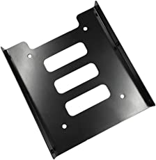 Professional 2.5 inch to 3.5 inch SSD HDD Metal Adapter Rack Hard Drive SSD Mounting Bracket Holder for PC - with Screws (Black Metal Tray)