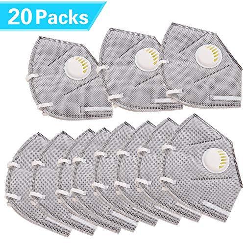 N95 Atemschutzmaske, ASNOMY Einweg Staubmaske, Persönliche Schutzausrüstung Atemschutzgeräte für BAU, Haushalt, Projekte (20 Stück) -