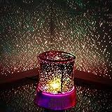 Hivel Luz de noche LED Estrella Iluminacion Proyector Lampara Maestro Luz de Navidad para Cuarto Ninos Decoracion Christmas Xmas