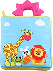TOYMYTOY Baby Cloth Books Non-Toxic My First Soft Book Intelligence Development Toys for Baby Toddler Infant