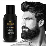 Bearded Mooch & Beard Growth Oil For Men Fast Growth Natural Moustache Oil For Softener, Thicker & Longer Beard - 30Ml