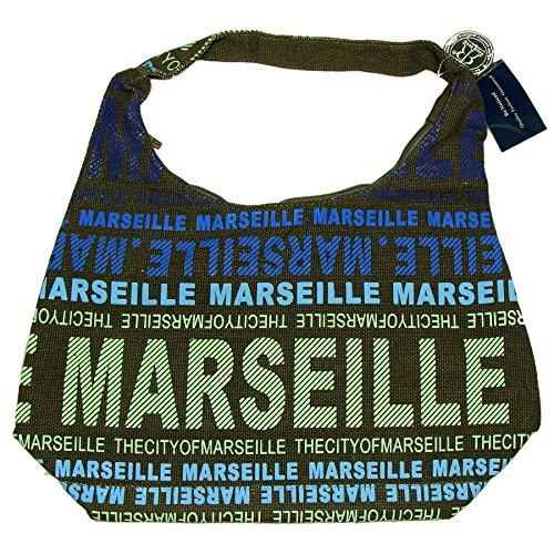 Robin Ruth - Sac City Marseille 48 x 37 cm - Couleur : Marron, Bleu
