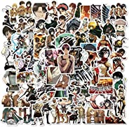 100Pack Attack on Titan Anime Theme Stickers Set Random Sticker Decals for Water Bottle Laptop Cellphone Bicyc