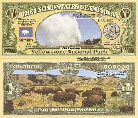 Novelty Dollar Yellowstone National Park Old Faithful Dollar Bills X