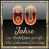 RAHMENLOS 3 St. Aufkleber Original Design: Selbstklebendes Flaschen-Etikett zum 80.