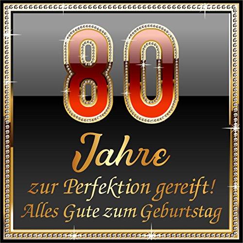 3 St. Aufkleber Original RAHMENLOS® Design: Selbstklebendes Flaschen-Etikett zum 80. Geburtstag: 80 Jahre zur Perfektion - Jahr-etiketten