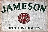 Jameson Irish Whiskey flaschen etikett alkohol schild aus blech, metal sign, tin
