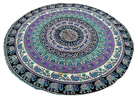 Roundie Yoga Matte Runde Tapisserie Baumwolle Tischdecke Strand Handtuch Indische Mandala Runde Roundie Strand Wurf Tapisserie Hippie Boho Zigeuner Strand Handtuch werfen Runde Yoga Mat