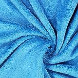 Fabulous Fabrics Teddy Plüsch Kuschel türkis — Meterware ab 0,5m — zum Nähen von Jacken und Mänteln, Accessoires und Pullovern