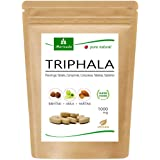 Tabletas de Triphala 1000mg (120 o 360 tabletas) hechos de la fruta del rey ayurveda Amla, Hiritaki y Bibhitaki: producto de