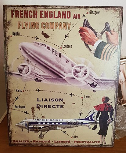 plaque «french engalnd air..... » 28*36 cm