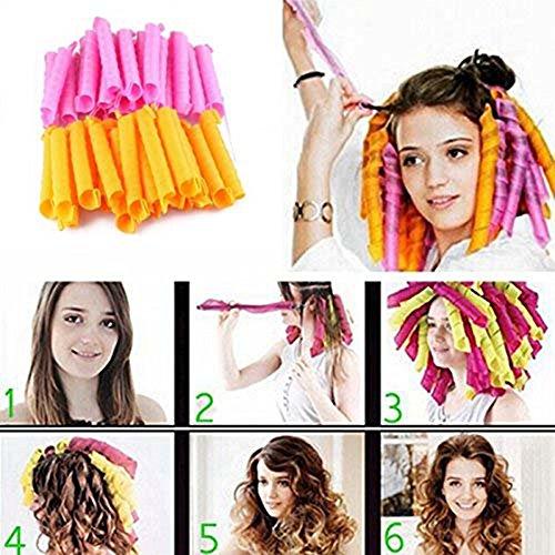 Cheveux DIY 50CM Rouleaux Bigoudis, Anewone Magique Curleur Cheveux Coiffure Outil, Bigoudis Flexibles Artefacts de Cheveux, Compact, pour Femme, Salon Roller coiffure Hair Styling Curlers Curls Fast + Hair Maker Styling Tool